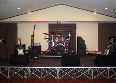 Forge Valley Event Center | Hendersonville, Brevard, Asheville | large sectioned stage for entertainment