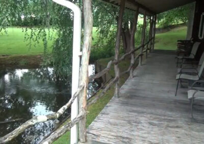 Forge Valley Event Center | Hendersonville, Brevard, Asheville | the relaxing deck at the cottage on premises